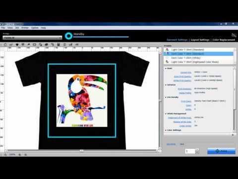 Logiciel Garment Creator Fourni Avec SureColor SC-F2000