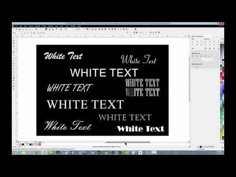 CorelDRAW Dye Sub Tips: Working With White Text