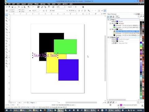Using The Object Manager In CorelDRAW