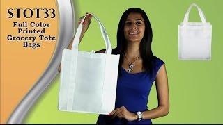 STOT33 - Full Color Printed Grocery Tote Bags