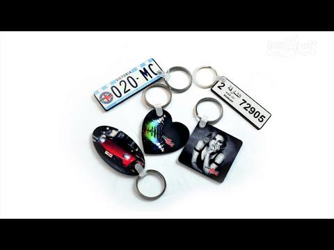 How To Print / Personalize / Sublimate On MDF Wood Customized Keychains