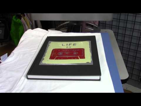 How To Print On A Journal Or Book   Printing On A Journal With The OKI920WT And Digital HeatFX