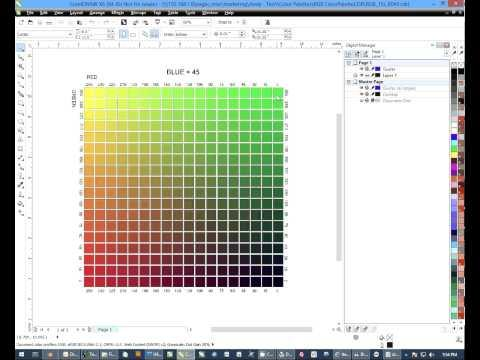 Sublimation Tips: How To Use The RGB Spot Color Charts With CorelDRAW