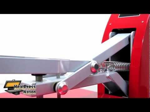 HPN 15x15 Red Heat Press - HeatPressNation.com