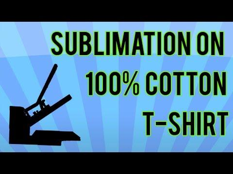 Sublimation On 100% Cotton T-shirt