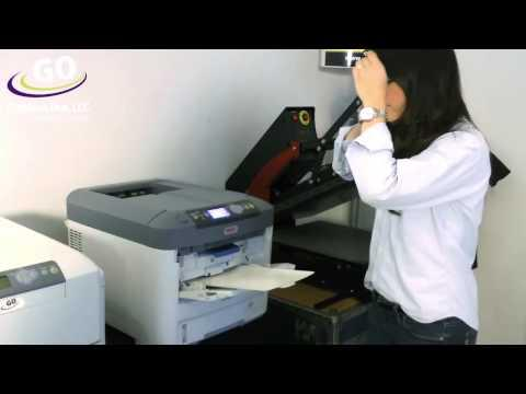 OKI 711WT Transfer Printer Using HD White Toner