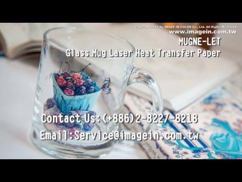 IMAGE IN COLOR: Glass Mug Laser Heat Transfer Paper For OKI C711WT White Toner Laser Printer HD