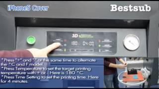 Drawer type 3D sublimation vacuum machine tutorial from BestSub