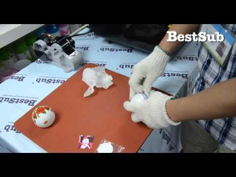 How To Sublimate Christmas Ornament From BestSub