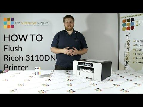 How To: Flush OEM Ink From Your Ricoh SG3110DN Printer Ready For Dye Sublimation