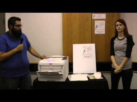 OKI C831-TS LED Laser Printer -- GO PolySign Product Demo