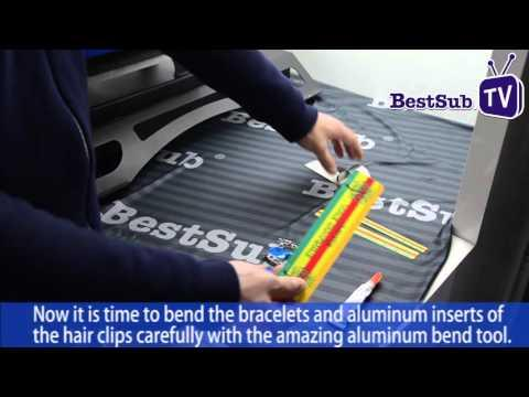 How To Sublimate Aluminum Bracelets And Hair Clips From BestSub