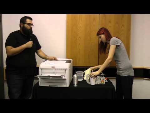 OKI C831-TS LED Printer -- Aluminum Bottle Heat Transfers