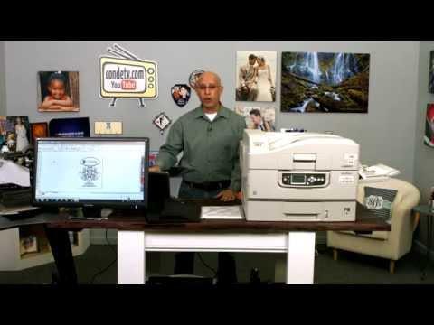Oki White Toner Printers - C920WT - Neenah Koncert T Transfer Paper - Workflow Video -