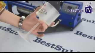 How to sublimate red wine glass from BestSub
