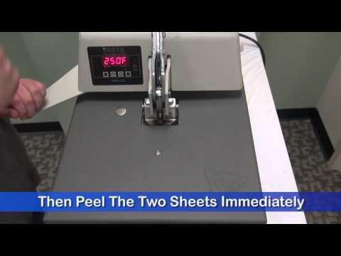 How To Press: ImageClip Koncert T's Laser Self Weeding Laser Paper