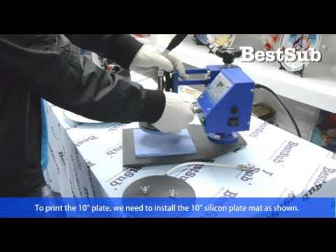 How To Sublimate Plates With Plate Press From Bestsub