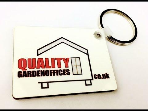 Sublimation MDF Keyring Printing