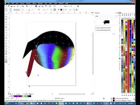 How To Use The Mesh Fill Tool In CorelDRAW -